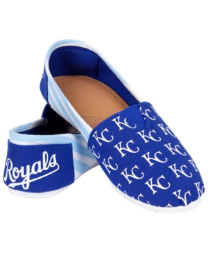 Forever Collectibles Kansas City Royals Canvas Logo Shoe Blue BGHmOsj