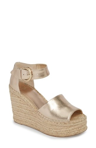 Marc Fisher 'S Ltd Alida Espadrille Platform Wedge Gold Leather NXe7Wy9ux