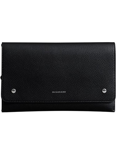 Clutch Two Tone Wristlet Black Burberry Leather nxISHqOn0