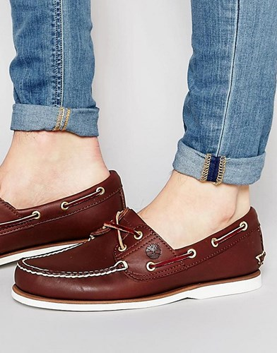 Timberland Classic Leather Boat Shoes Brown yMuNpt