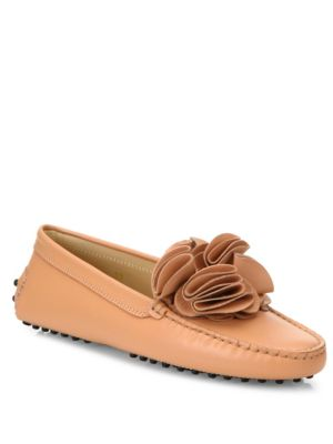 Gommini Drivers Cheek Leather Tod's Flower dtFOdqw