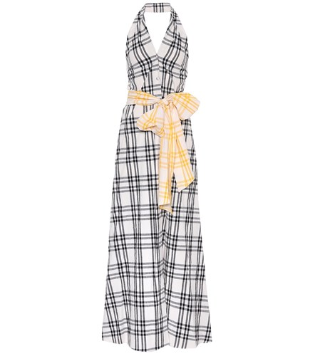 Rosie Assoulin Checked Cotton Halter Dress Multicoloured ae3Ugr