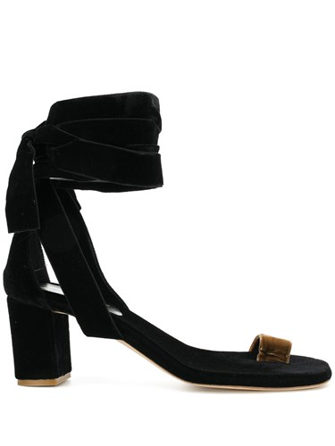 Gia Couture Wrap Around Ankle Sandals Black OnKA6nOeW