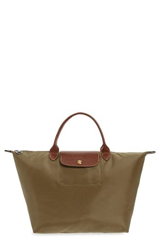 Longchamp 'Medium Le Pliage' Nylon Tote Brown New Khaki sgF8l