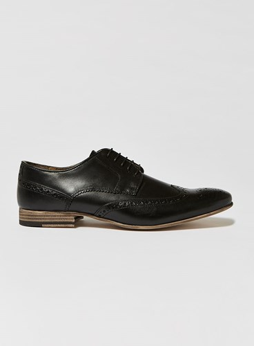 Topman Black Leather Luther Brogues SIR89bA