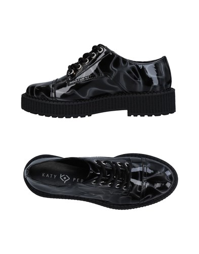 KATY PERRY Lace Up Shoes Black vZTzo