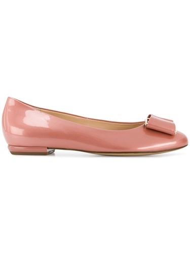 Hogl Bow Detail Flats Pink And Purple sWJNW