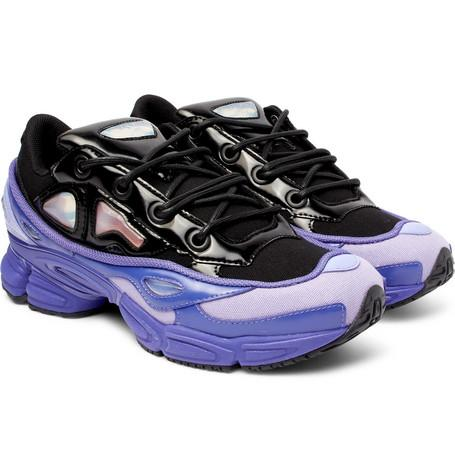 Raf Simons Adidas Originals Ozweego Iii Canvas And Faux Leather Sneakers Purple 8hkmM5xdQ