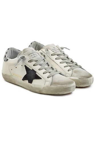 Golden Goose Deluxe Brand Super Star Leather Sneakers White HsoI25QtDn
