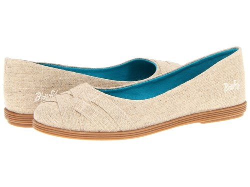 Blowfish Glo Natural Cozumel Linen Women's Flat Shoes Bone bXMrzD