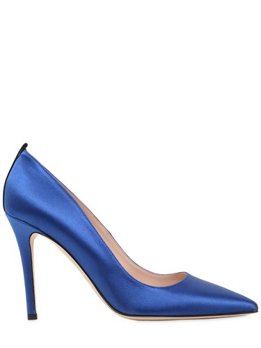 Sarah Jessica Parker 100Mm Fawn Satin Pumps Jeolh