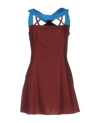 OBLIQUE Short Dresses CREATIONS Short Maroon CREATIONS OBLIQUE OBLIQUE Short CREATIONS Maroon Dresses Rawwv5Aqz