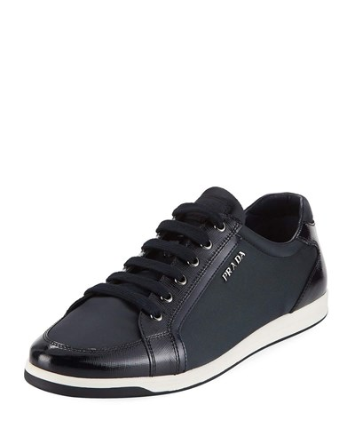 Prada Low Top Lace Up Sneaker Blue y5pUlX82Ge