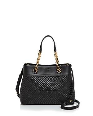 Fleming Black Gold Tote Small Burch Tory Leather pwWFZUx4q