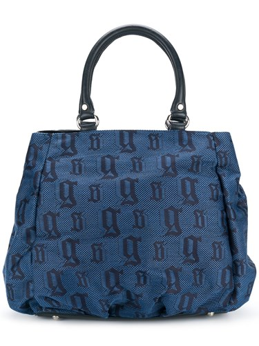 John Galliano Monogram Tote Blue YMXcuoPs4