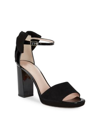 Kate Spade Halle Open Toe Suede Sandals Black ylR45zYNq