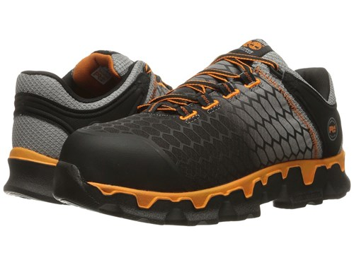 Timberland Powertrain Alloy Toe Sd Grey Synthetic Orange Men's Work Lace Up Boots Black Xb4OGQ