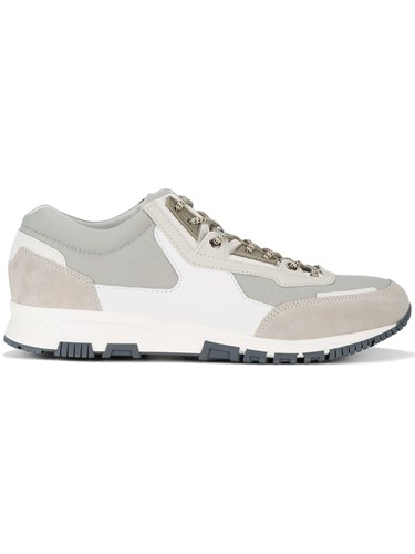 Lanvin Leather And Suede Running Trainers Men Calf Leather Polyester Rubber 8 Grey Dk7pJcc
