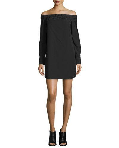 Mini The Bone and Rag Dress Poplin Off Kacy Black Shoulder fI00vw