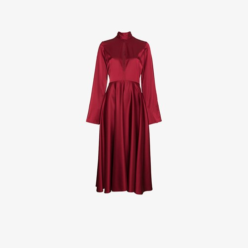 Dress Maxi Sleeves Flared With Beaufille fAx1qF5w1