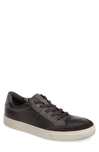 Ecco Men's Kyle Classic Sneaker Moonless Leather YJ2ADc5aJ