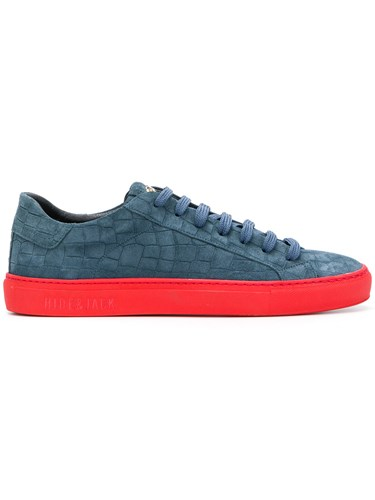 Hide & Jack Contrast Sole Sneakers Blue 8htON