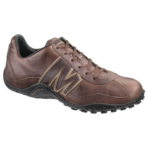 Merrell Sprint Blast Leather Trainers Gunsmoke Brown qmcSbYQ9S