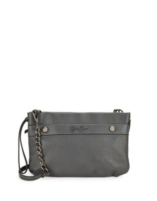 Jessica Simpson Logo Faux Leather Crossbody Bag Natural qkAOPtW