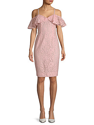Trina Turk Mysterious Cold Shoulder Sheath Dress Pink Champagne GO7qQ