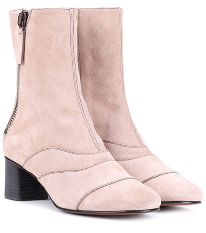 Chloé Lexie Suede Ankle Boots Pink 6ahke3