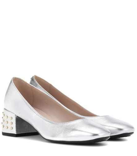 Tod's Leather Pumps Metallic icHKzAJ7