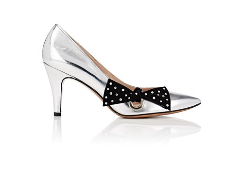 Marc Jacobs Daryl Specchio Leather Pumps Silver BCBHXF