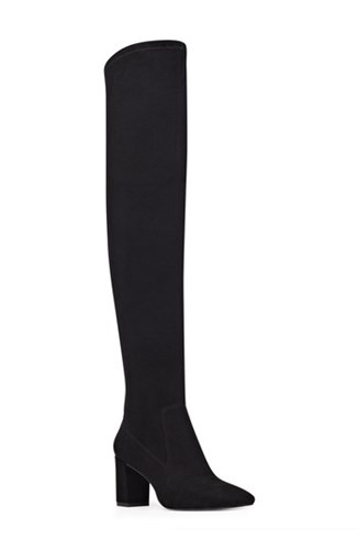 Nine West Women's Xperian Over The Knee Boot Black Suede Buo4zMZ8x