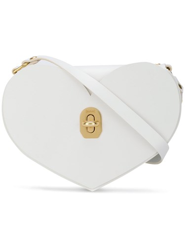 Niels Peeraer Heart Crossbody Bag White 7YEZic