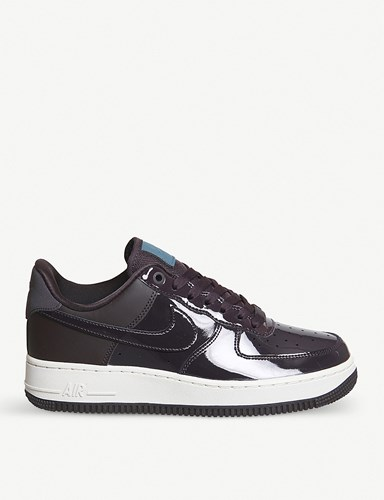 Nike Air Force 1 07 Patent Leather Trainers Port Wine Space Blue Niqt3lKthI