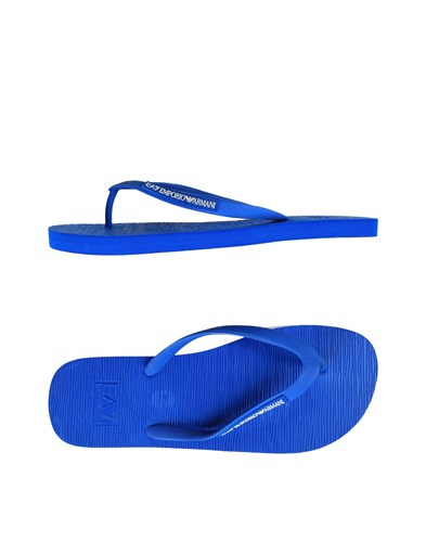 Armani Sandals Strap Bright Toe Emporio Blue dfvxOd