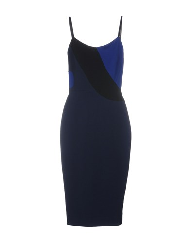 Victoria Beckham Knee Length Dresses Dark Blue oYuLlq