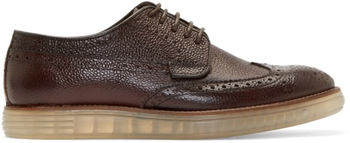 Brown Pebbled Leather Harvey Brogues
