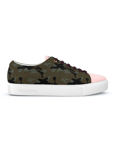 Swear Vyner Sneakers Calf Leather Rubber Calf Hair Nappa Leather Green D0pxyi