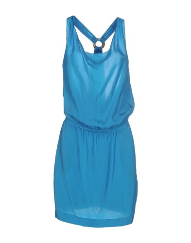 Jo No Fui Knee Length Dresses Azure 79ehtQema