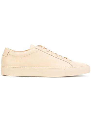 Common Projects Lace Up Sneakers Women Leather Rubber 39 Nude Neutrals xfajEeHo