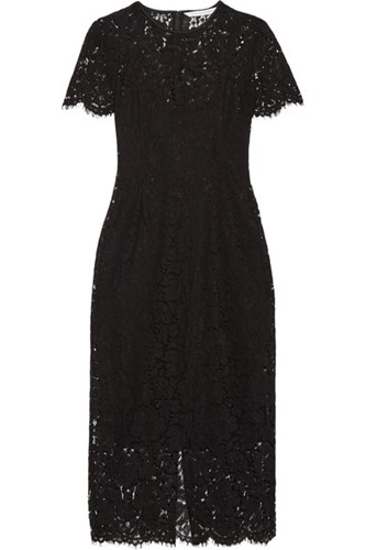Carly Guipure Lace Dress Black