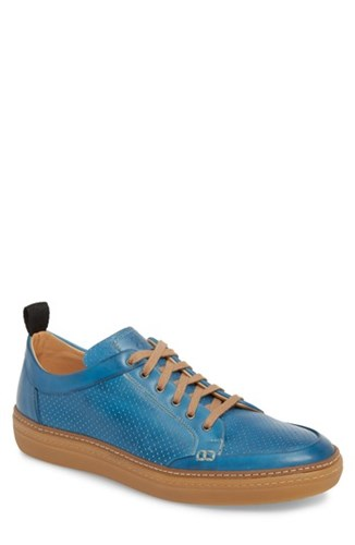 Mezlan Ceres Perforated Low Top Sneaker Blue Royal Blue Leather B7q2I