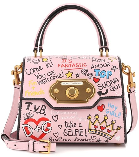 Dolce & Gabbana Welcome Leather Shoulder Bag Pink cyPT2WOZJA