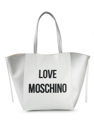 love moschino 39 love moschino 39 shopper white nuji. Black Bedroom Furniture Sets. Home Design Ideas