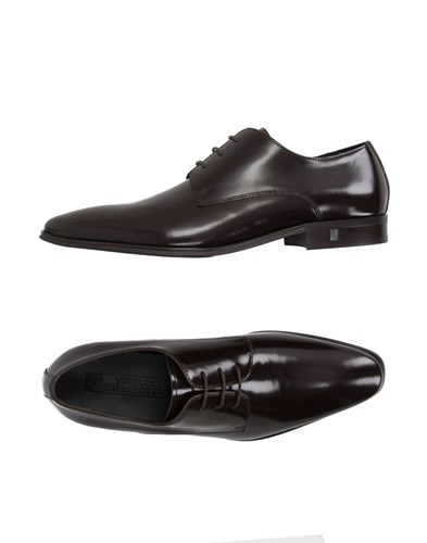 Versace Collection Lace Up Shoes Dark Brown KgNyRK01