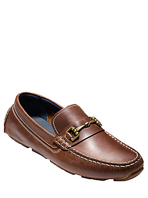 Cole Haan Kelson Leather Loafers British Tan VMIHN4Y