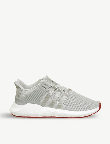 adidas Eqt Support 93 17 Woven Trainers Matte Silver White YH21agb