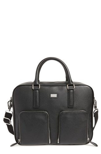 Ted Baker London Toother Leather Briefcase Black pDtpfty