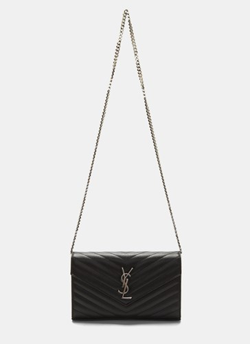 Saint Laurent Ysl Monogrammed Wallet Bag Black 42LK7I0